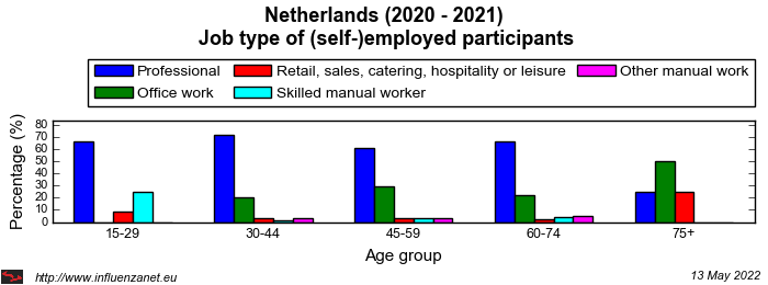 Netherlands 2020 - 2021 Job type of (self-)employed participants